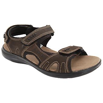 Roamers Mens 3 Touch Fastening Padded Sports Sandals