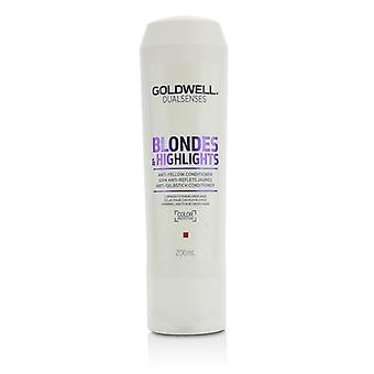 Goldwell Dual Senses Blondes & Highlights Anti-Yellow Conditioner (Luminosity For Blonde Hair) - 200ml/6.8oz