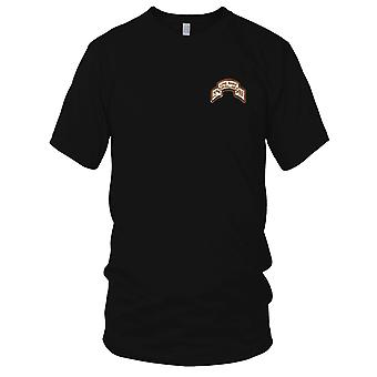 US Army - 25th LRS Infantry Desert Embroidered Patch - Mens T Shirt