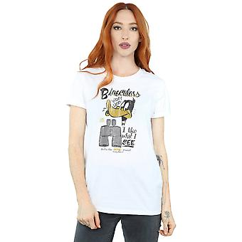 Looney Tunes Women's Daffy Duck Binoculars Boyfriend Fit T-Shirt