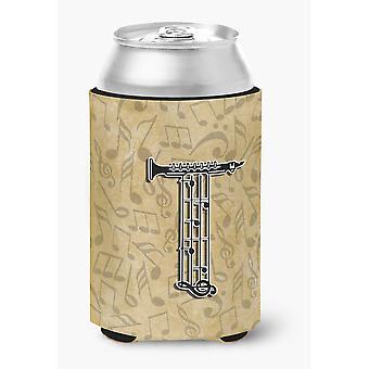 Letter T Musical Instrument Alphabet Can or Bottle Hugger