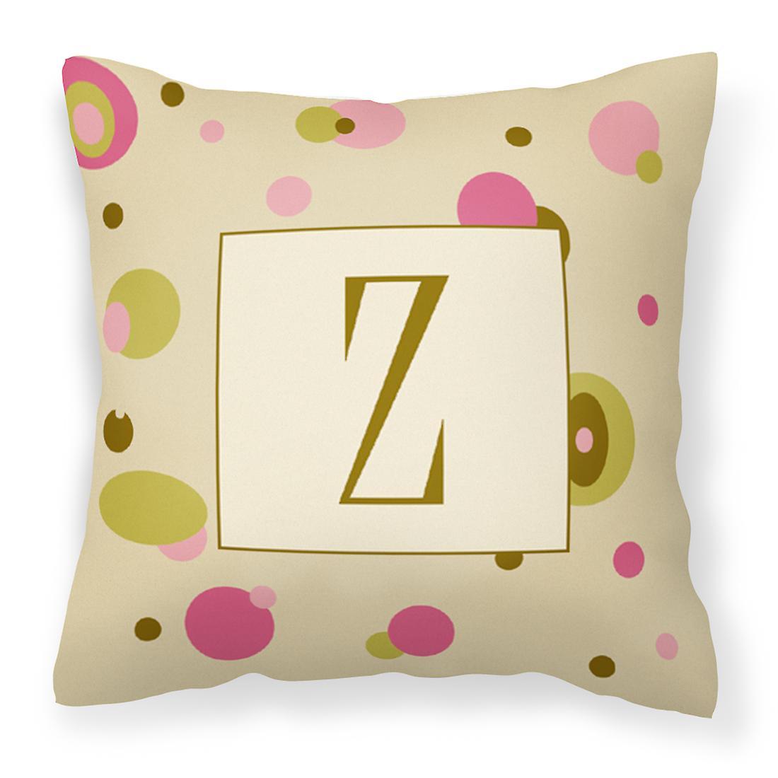 Lettre Monogramme InitialeTan Décoratifs Z Points Tissu Toile Oreiller YbvI6gym7f