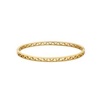 Minimalist chic bangle bracelet Golden triangles