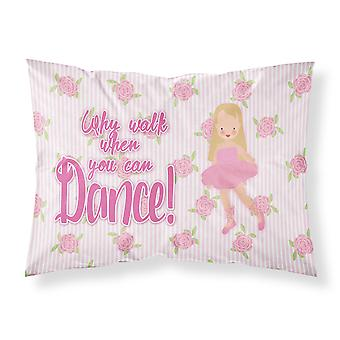 Ballet Long Blonde Hair Fabric Standard Pillowcase