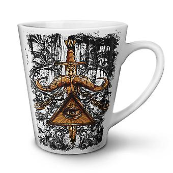 Triangle Society NEW White Tea Coffee Ceramic Latte Mug 17 oz | Wellcoda