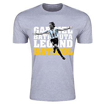 T-shirt Argentina Gabriel Batistuta Legend (grigio)