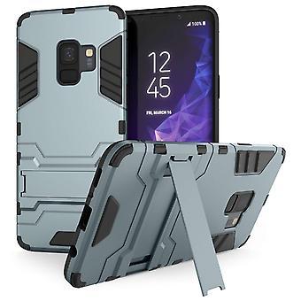 Samsung Galaxy S9 Armour Kickstand Case - stål blå