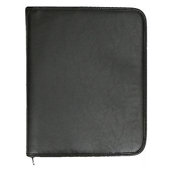 Tassia Two Ring Binder and A4 Pad Folio - Black