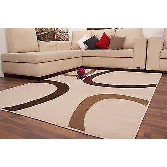 SPECIAL OFFER BROWN CREAM FLAT PILE NEW DESIGNER MODERN RUGS RETRO + COLORS