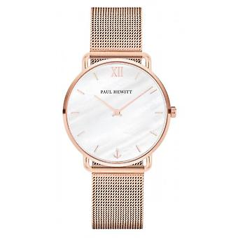 Paul Hewitt Miss Ocean Line Quartz Watch - Rose Gold/Pearl