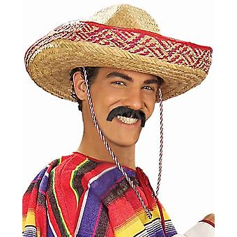 Pancho Mexican Tequila Bandido Black Men Costume Moustache