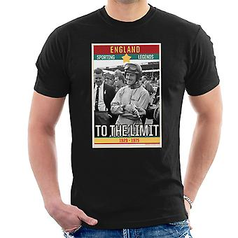 Sporting Legends Poster England Norman Graham Hill To The Limit 1929 To 1975 Men's T-Shirt