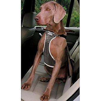 Ancol perro arnés seguro de coche, negro, tamaño grande