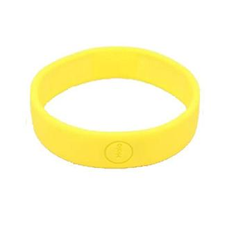Haloband NFC-tag bracelet to control actions - yellow
