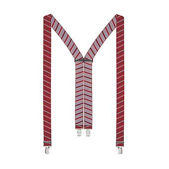 LLOYD men suspenders braces red 6310