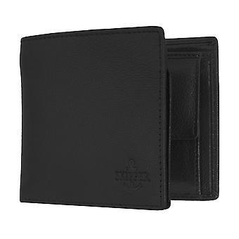 Schipper mens wallet portemonnee tas Lederen portemonnee liggend formaat zwarte 6874