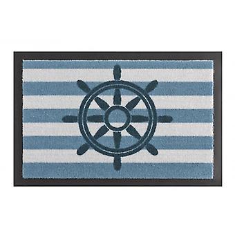 Tapis de piégeage de saleté tapis volant Blau Weiß 40 x 60 cm