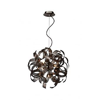 Lucide ATOMA Pendant 42cm 5xG9excl Rust