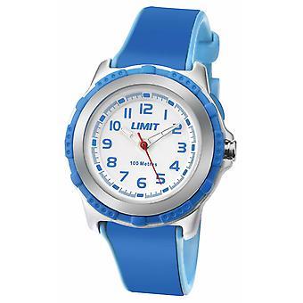 Gränsen barn Active blå harts rem vit urtavla 5600.24 klocka