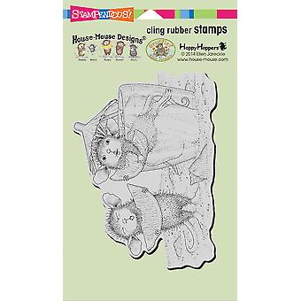 Stampendous House Mouse Cling Stamp-Lemon Sour