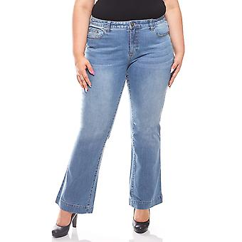 abdulgaffar casual impact pants jeans short size plus size blue