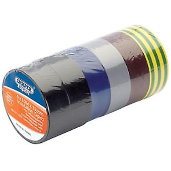Draper 90086  Expert 8 x 10M x 19mm Mixed Colours Insulation Tape