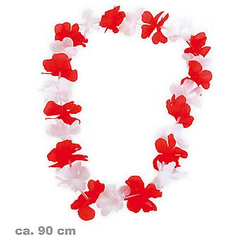 Hawaiian Lei red white flower chain themed party FAN article Starndparty