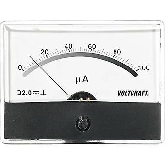 Analogue rack-mount meter VOLTCRAFT AM-86X65/100µA