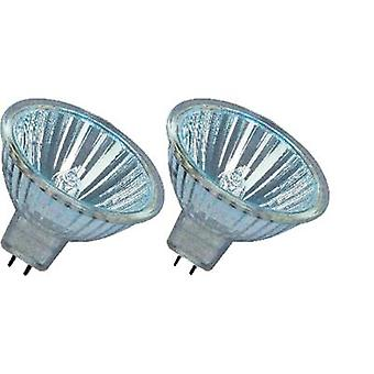 OSRAM HV halogen EEC: B (A++ - E) GU5.3 46 mm 12 V 20 W Warm white Reflector bulb dimmable 2 pc(s)