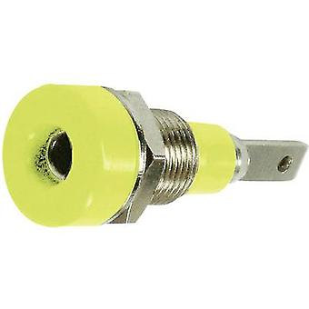 Stäubli LB-I2R Jack socket Socket, vertical vertical Pin diameter: 2 mm Yellow 1 pc(s)