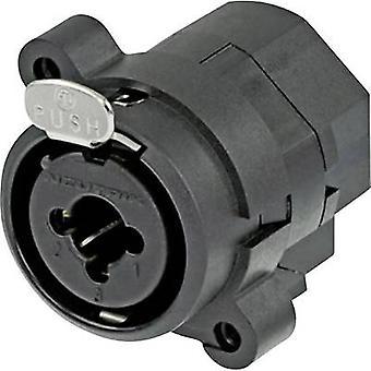 Neutrik NCJ9FI-S XLR connector Sleeve socket, straight pins Number of pins: 3 Black 1 pc(s)