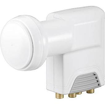 Goobay Universal Quad LNB No. of participants: 4 LNB feed size: 40 mm gold-plated terminals, with switch