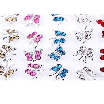 20 paren van Butterfly Crystal Strass zilveren Ear Stud Earrings Stud Earrings