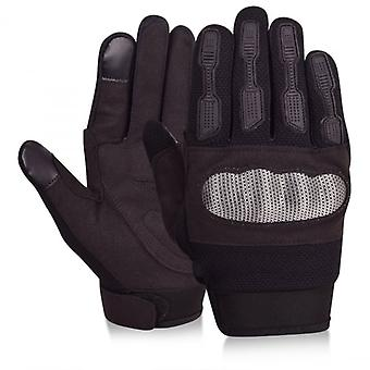 Echo Island Mens Black Knuckle Gloves Touch Screen Motorcycle Motocross Climbing Shooting Sports Street Style