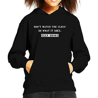 Keep Going Sam Levenson Quote Kid's Hooded Sweatshirt