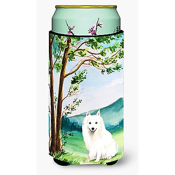 Under the Tree Japanese Spitz Tall Boy Beverage Insulator Hugger