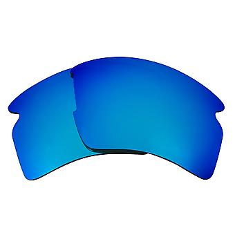 FLAK 2.0 XL Lenses & Rubber Accessories Blue Mirror & Brown by SEEK fits OAKLEY