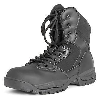 メンズ鋼つま先キャップ安全作業革ゴム唯一屋外耐久性のあるブーツは、英国 6-14