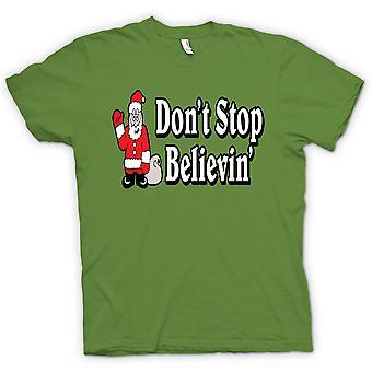 Womens T-shirt - Santa Believe - Funny Christmas