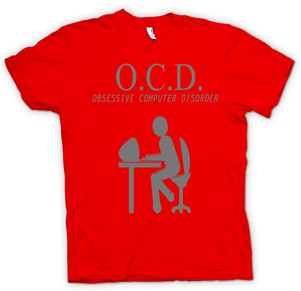 Mens T-shirt - OCD Obsessive Computer Disorder - Quote