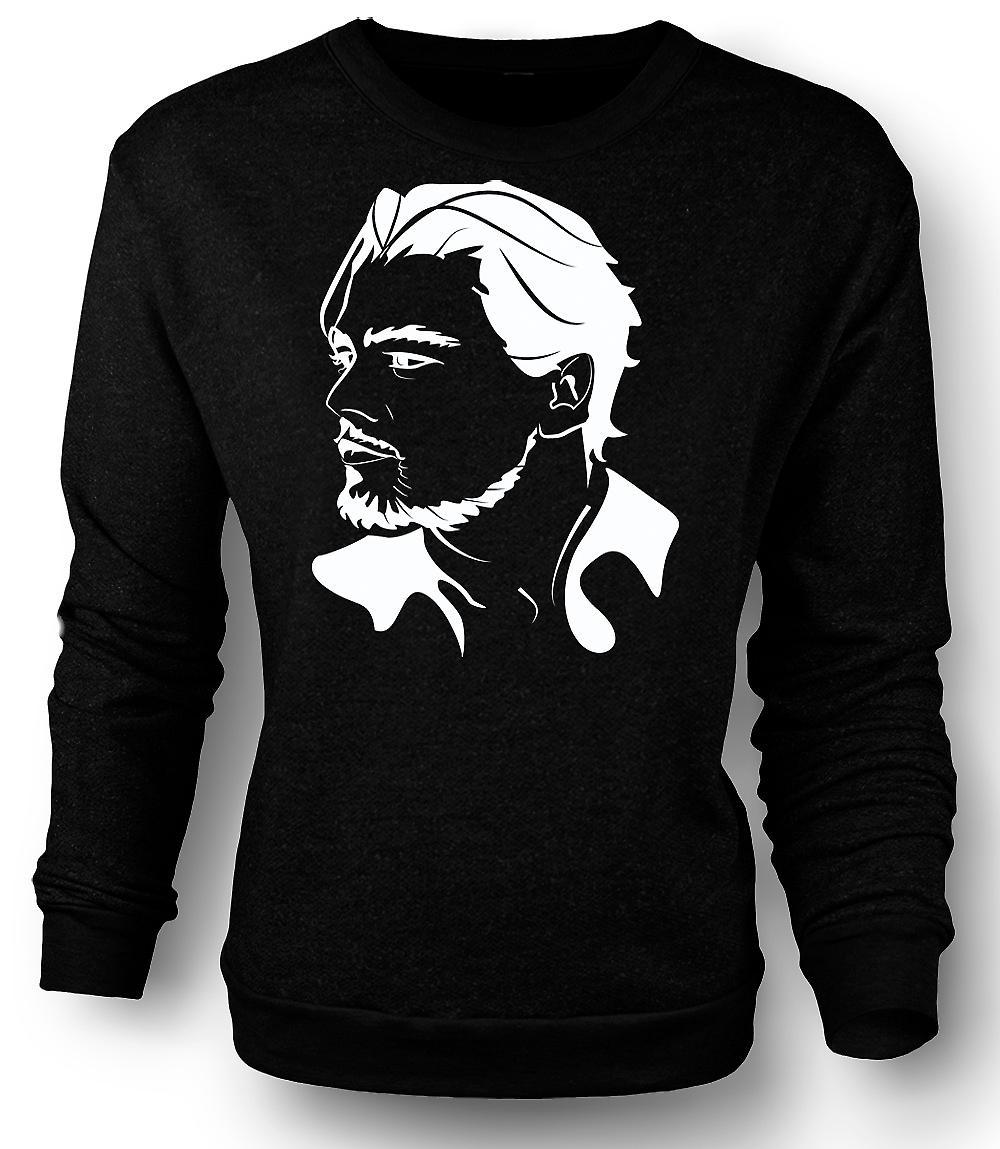 Mens Sweatshirt Leonardo Dicaprio Portrait