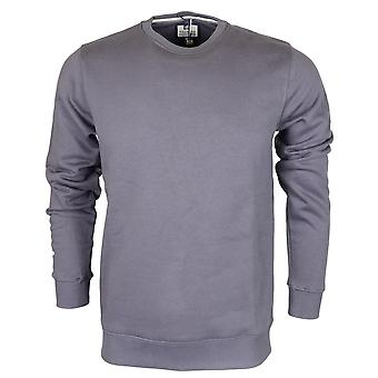 Weekend Offender Olivares Steel Grey Long Sleeve Sweatshirt