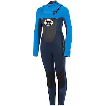 Animal Dark Navy Lava - Front Zip 5-4-3mm Kids Long Sleeved Wetsuit