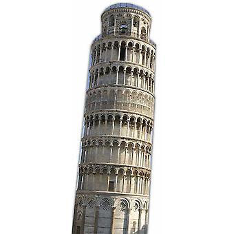 La torre inclinada de Pisa - recorte de cartón de tamaño natural / pie