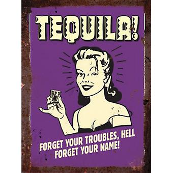 Vintage Metal Wall Sign - Tequila version 3