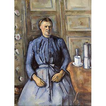 Woman with Coffee Pot, Paul Cezanne, 50x36cm