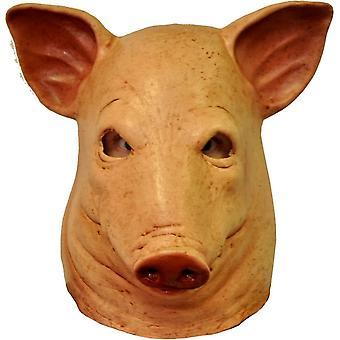 Schwein Blut Latex-Maske für Erwachsene