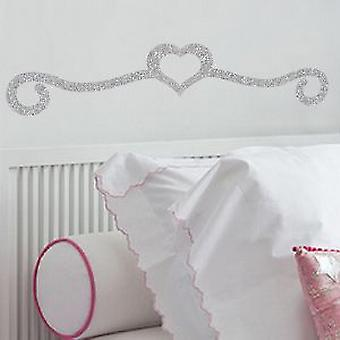 Sparkle Heart Headboard sticker