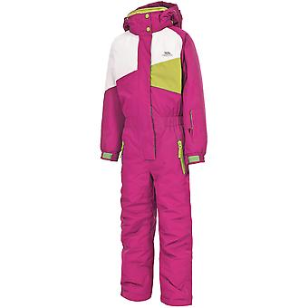 Trespass Girls Wiper Ski Jacket And Trousers One Piece Set Pink