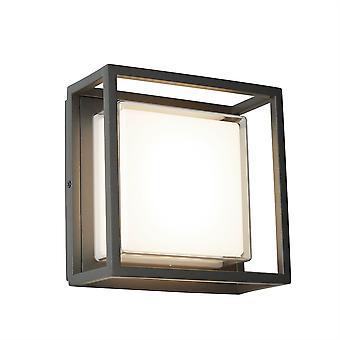 Lámpara de pared al aire libre de Ohio oscuro gris Plaza - reflector 3812GY